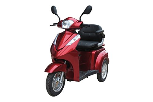 E-Wheels EW-38 High Power Fast 3 Wheel Heavy Duty Mobility Scooter (Red)