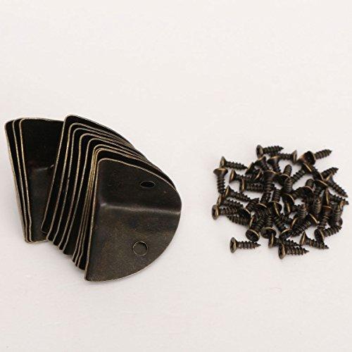 12 stuks metalen hoekbeschermers randbescherming bokshoek bescherming koffer tafel hoek hoek