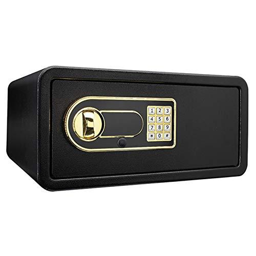 jklj Pequeña Caja Fuerte Robusta Función de Bloqueo Digital compacta para el Suelo de Montaje en el Suelo Negro para el Dinero de la joyería. (Color : Black, Size : Medium)