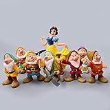 ZGPTX Escultura Estatua Decoración Regalo Decorativa Moderno Estatuas Figuras 8 Piezas de Suministros de jardinería en Miniatura Blancanieves y los Siete enanitos