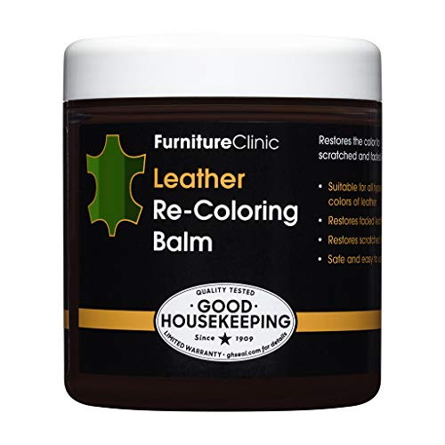 Furniture Clinic Leather Recoloring Balm - Leather Color Restorer for Furniture, Repair Leather Color on Faded & Scratched Leather Couches - 15 Colors of Leather Repair Cream (Pine Green)