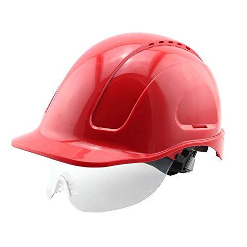 ZQYB Helm met veiligheidsbril, antistatisch, vlamvertragend, isolatie, standaard elektricien BAU Bump Cap Builders Werkbank