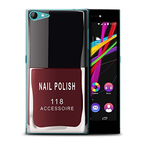 Stuff4® hoes/case voor Wiko Highway Star 4G / rood patroon/nagellak/make-up collectie