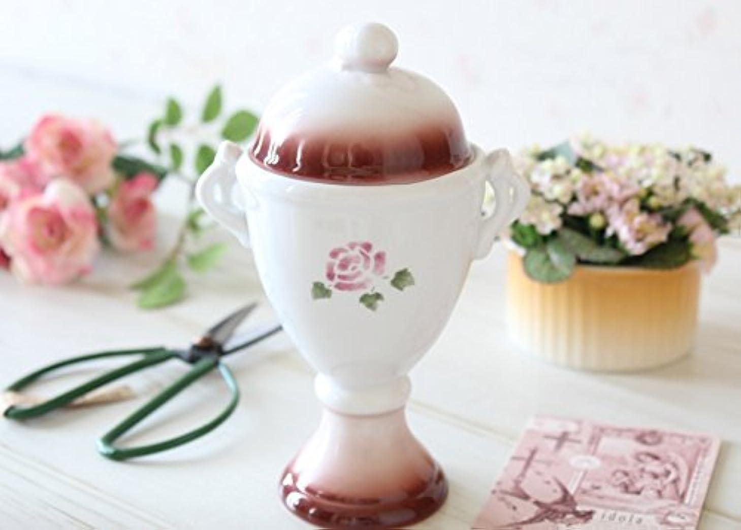 第五パノラマ食事マニーローズ 陶器 ハンドルカップ(レッド)