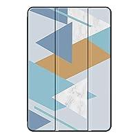 Fuleadture iPad 10.2 2019/iPad 保護ケース,PUレザー+ PC 全面保護型 落下抵抗 指紋防止 三つ折 3つ折り スタンド機能付き クリア バックカバー iPad 10.2 2019/iPad Case-ad32