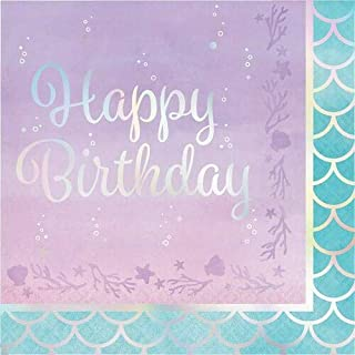 Creative Converting 336716، IRIDESCENT LUNCHEON NAPKIN، عيد ميلاد سعيد، 0.055x12.75x12.875inc