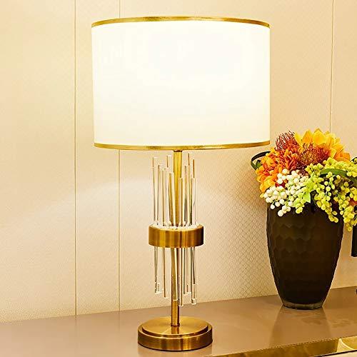 YSNJG Lámparas de Mesa de Tira de Vidrio Transparente para Sala de Estar Lámparas de Mesa de Color Dorado Lámparas de Noche Lámparas de Mesa Led para Oficina, Dormitorio, Lectura, Trabajo, Estudio