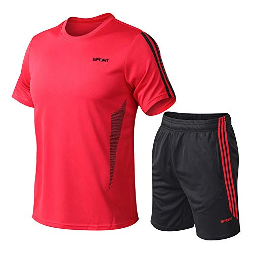 WYYH Mens' Running Shorts Sportswear,Homme De Sport Outdoor Quick Dry Short Sleeved T-Shirt, Football T-Shirt Short Jogging RunningBlouse