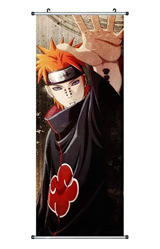 CoolChange Großes Naruto Rollbild / Kakemono aus Stoff Poster, 100x40cm, Motiv: Pain / Tendo / Pein