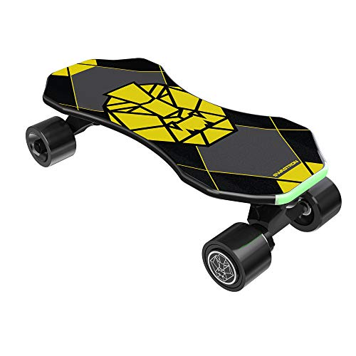 "Swagtron Swagskate NG-3 Electric Skateboard for Kids, Teens | Kick-Assist A.I. Smart Sensors | Mini E-Cruiser Skateboard w/Move-More/Endless Mode | 9"" Deck 72mm Wheels (NG-3)"