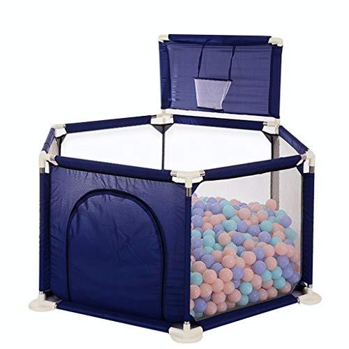 Parc Enfant Extensible Parc pour bébé, aire de jeu pour enfants, fosses de balle pour les enfants,cadre de prise de vue et 200 balles océaniques grand stylo pour jeux intérieur / extérieur