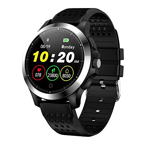 JIAJBG Reloj Elegante Noble W8 Deportes, Ip67 a Prueba de Agua con el Ecg + Ppg Monitor de Ritmo Cardíaco Rastreador de Ejercicios Reloj de Pulsera, para Android 4.4, Ios8.0, Soport
