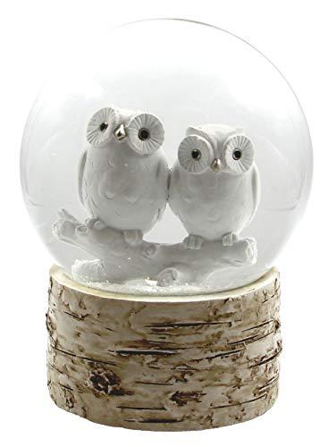 The San Francisco Music Box Company White Owl Babies 120MM Snow Globe