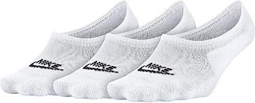 Nike Damen Socken Footie, White/Black, S, SX6014-100
