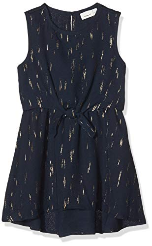 NAME IT meisjes NMFRITALINA SL Dress Camp jurk, blauw (Dark Sapphire Dark Sapphire), (fabrikantmaat: 98)