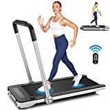 fioleken 2 in 1 Under Desk Treadmill for Home Use,Portable Electric Treadmill Workout with Bluetooth...