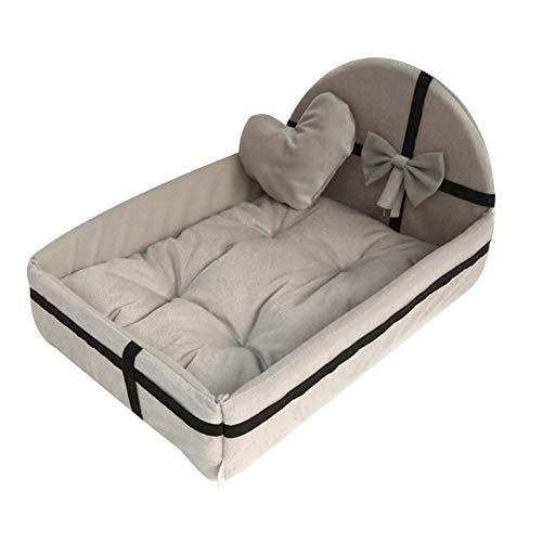 feeilty -Hundebett Weiche Waschbare Warmes Bett Kissen Mit Fleece-Futter Für Kleine Bis Große Hunde Katzen Sleeping - Abnehmbarer