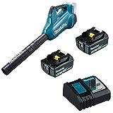 Makita DUB362Z - 2 ventole a batteria da 18 V + 2 batterie da 5,0 Ah BL1850b + caricatore DC18RC
