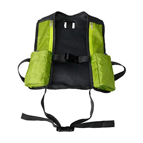 LUOXIYOUXUAN Chaleco de hidratación Trail Marathoner Running Race Mochila de senderismo Chaleco de ciclismo al aire libre, ligero, plegable multi-bolsillos mochila para correr sin taza de agua (verde)