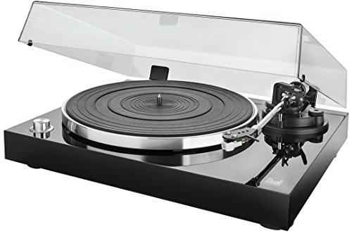 Dual DT 500 USB HiFi-Plattenspieler (33/45 U/min, Magnet-Tonabnehmer-System, USB-Anschluss, Holz-Gehäuse mit Hochglanz Lackierung) schwarz