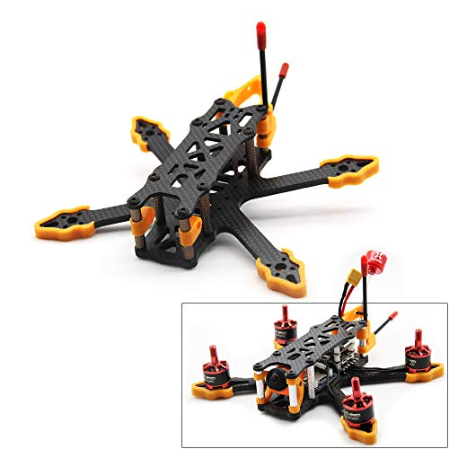 Usmile GX140 140mm Drone Frame Designed for Rumcam Split Mini 2 Caddx Turtle V2 1080P HD FPV Camera Micro 3 inch Quadcopter Frame Carbon Fiber FPV Racing Drone Frame (GX140)