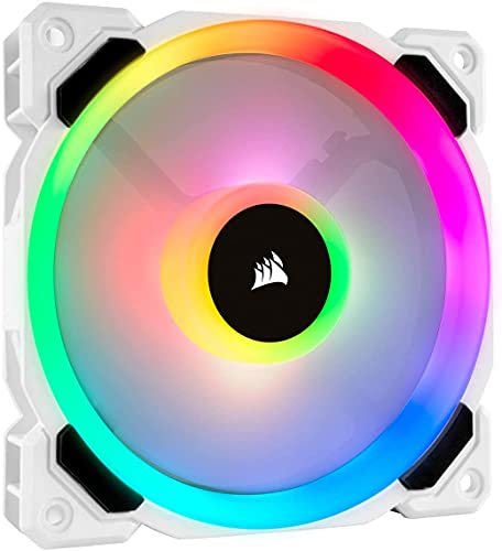 Corsair LL Series, LL120 RGB, Ventilador LED RGB de 120 mm, Paquete único, Color Blanco