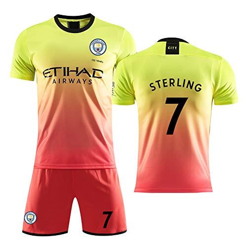 Manchester City jersey 2018/19 seizoen 10 Aguero voetbalkleding pak mannelijk kind volwassen (3XS-2XL)