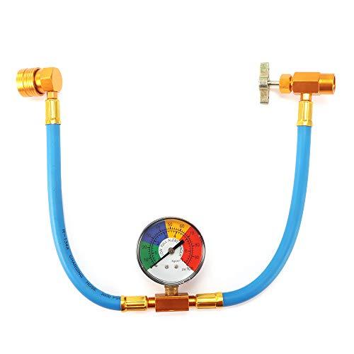 Wovatech Kit de medidor de manguera de medición de recarga de refrigerante de aire...
