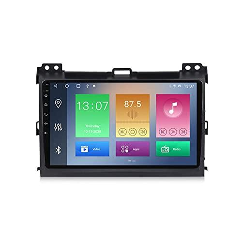 Radio para Coche con Cámara De Visión Trasera Autoradio Android 10 para Toyota Prado 2004-2009 con Soporte GPS Navegación 4G WiFi Carplay FM,1+16g