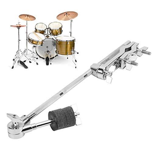 Abrazaderas de extensión del juego de batería, soporte de platillos extraíble duradero, para tambores de caja