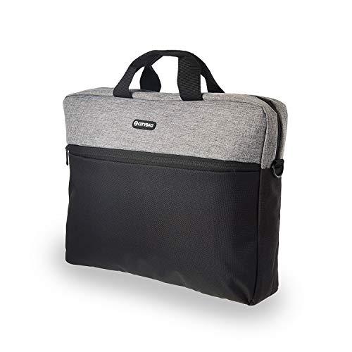 15.6 Inch Laptop Bag - Laptop Shoulder Bag, Business Briefcase Laptop Case - Compact PC, Tablet/Computer Carrying case with Accessory Storage Pockets (Grey Melange)
