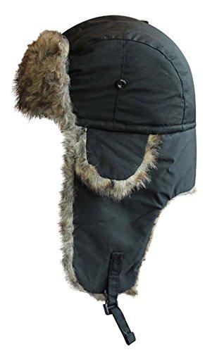 VIZ Bonnet de Trappeur imperméable Noir