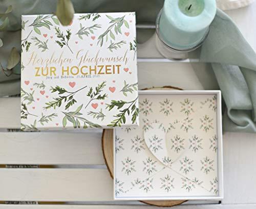Geldgeschenk zur Hochzeit - Hochzeitsgeschenke für Brautpaar- Geld Gutschein Verpackung für Brautpaar PERSONALISIERT Lasst Liebe wachsen!