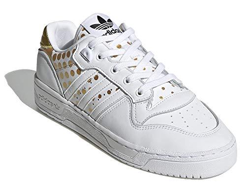adidas Rivarly Low W Sneaker Donna Bianco, 38