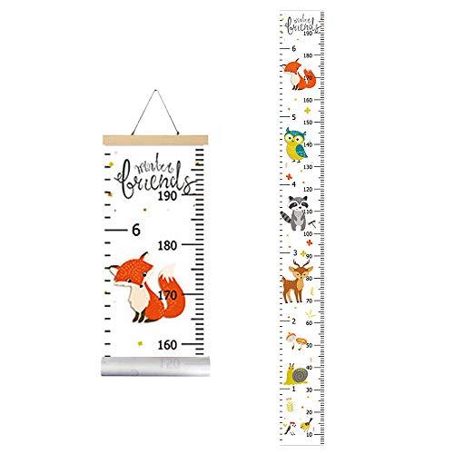 IWILCS Kinder Messlatte, Babywachstumstabelle, Kinder Messlatte Wachstum Wall Chart Höhe Diagramm, Aufhängen Herrscher für Kinder Schlafzimmer Kinderzimmer-Wanddekorationen