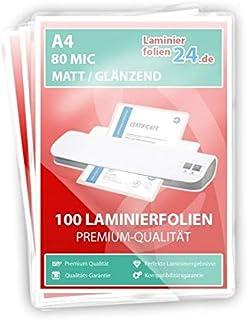 einseitg MATT 100 Laminierfolien DIN A4 125mic Matt//Glossy