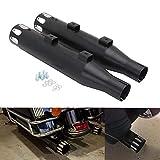 YSMOTO Silenciador de Escape para Motocicleta de 3 Pulgadas, Color Negro, para Har-Ley Sportster...
