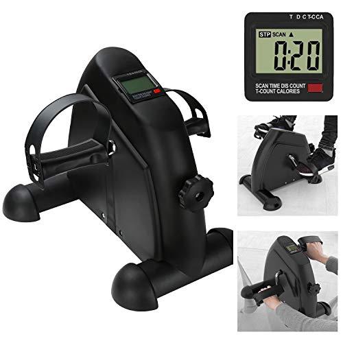 TolleTour Mini Bike, Praktischer Arm- und Beintrainer mit LCD-Display, Fitnessbike, Fahrradergometer für Das Büro (Schwarz)