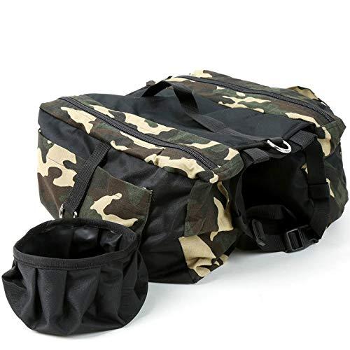 Paquete para mascotas de gran capacidad, mochila para perros de viaje al aire libre, ajustable, se puede conectar a la correa