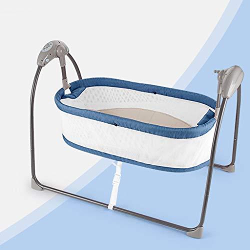 Bulawlly Cradle for Baby mit Net und Swing Krippe Crown Canopy Moskitonetz Halter für Baby-Schwing Swinging Cradle Oder Moses Basket,Blau