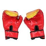 Kinderhandschuhe, Kinder Boxhandschuhe mit Klettschluss Klein Box-Handschuhe für Kinder von 3-12 Jahre Training Gloves 6 Unzen zum MMA, Muay Thai und Kickboxen, rot