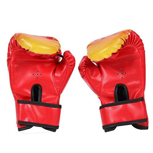 Gants pour Enfants, Gants de Boxe pour Enfants avec Fermeture Velcro Petits Gants de Boxe pour Enfants de 3 à 12 Ans Gants d'entraînement 6 onces pour MMA, Muay Thai et Kickboxing, Rouge (Red)