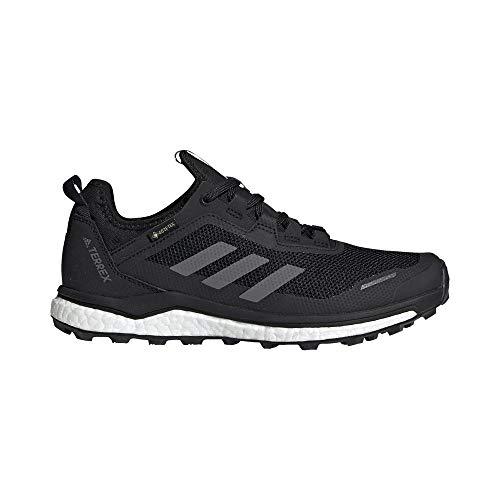 adidas Damen Terrex Agravic Flow Gore-Tex Traillaufschuh, CBLACK/GRETHR/GREFOU, 42 EU