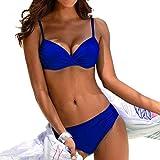 Traje de Baño de Mujer Push Up Sexy Arrugas Bikini brasileño Set Halter Retro Conjuntos De Bikini BañAdores con Relleno Sujetador Tops y Braguitas Ropa de Playa vikinis riou