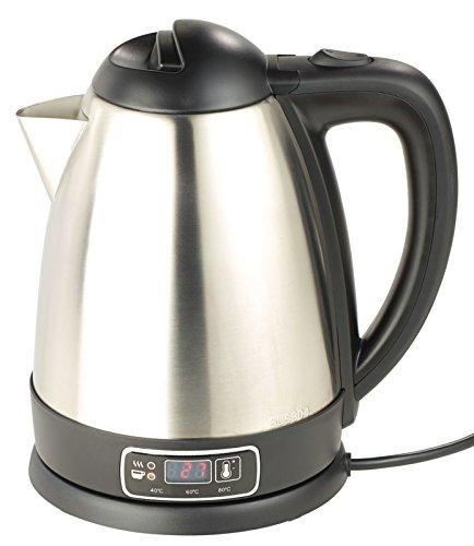Rosenstein & Söhne Tee Wasserkocher: Edelstahl-Wasserkocher mit Temperatur-Wahl, 1,8 Liter, 1.830 Watt (Wasserkocher Temperaturwahl)