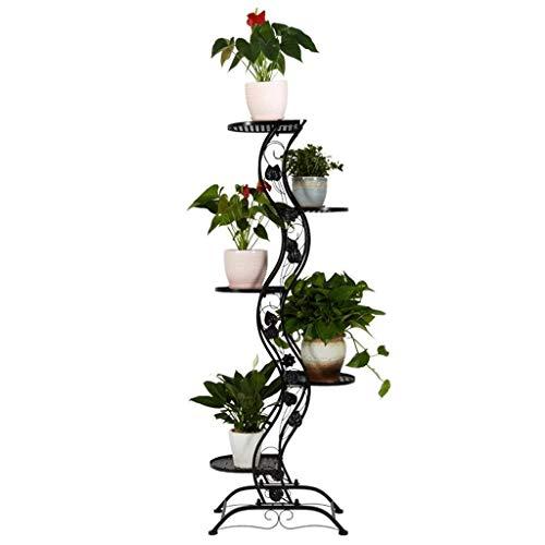 Puesto de Flores Soporte de Plantas, Planta de Rack de Flores 5 Niveles de Estante de Flores a Escala/estantería de Plantas - Bastidor de Flores en Interiores/al Aire Libre como Estante de almacen