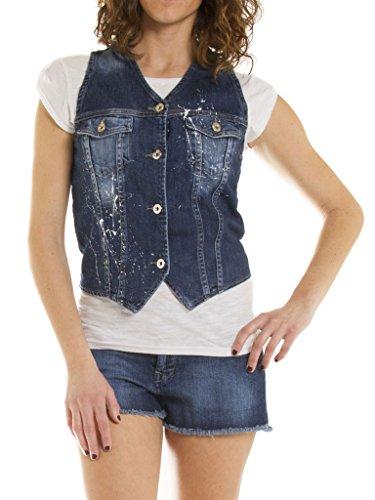 Carrera Jeans - Gilet Jeans per Donna, Tessuto Elasticizzato IT L