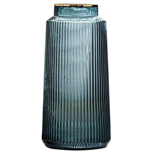 GARNECK Vaso di Fiori in Vetro Vaso Decorativo Strisce Verticali Vaso di Vetro Vaso da Tavolo Disposizione dei Fiori Centrotavola per Home Office Cafe