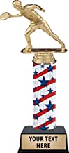 """Crown Awards Frisbee Trophies - 11"""" Red, White and Blue Ultimate Frisbee Trophy with Customized Text Prime"""