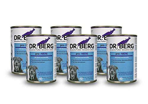 Dr. Berg pro-NIERE Nassfutter für Hunde: Diätfutter bei Nierenproblemen & Niereninsuffizienz (6 x 400 g)